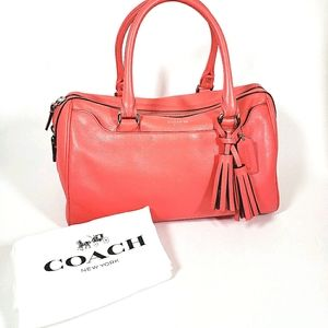 Coach Coral Bowler Hand Bag With Dust Bag